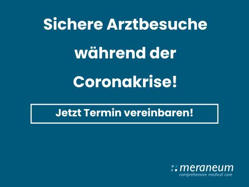 Hinweis über sichere Arztbesuche während der Coronakrise